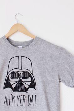 Darth Vader Star Wars Scottish Dad T-shirt funny t shirts
