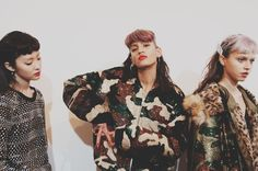 Camo sequins backstage at Ashish AW15 LFW. See more here: http://www.dazeddigital.com/fashion/article/23800/1/ashish-aw15