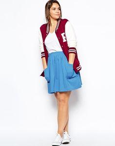 Image 1 ofASOS CURVE Skater Skirt With Pockets