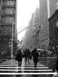 Winter time in New York