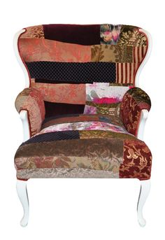 Cozy Bergere Patchwork Chair by sarapalacios  #quilt #quilting #longarm #machinequilting #tinlizzie18