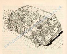 Traveller/countryman schematic Mini Cooper Classic, Classic Mini, Classic Cars, Morris Traveller, Garage Interior, Morris Minor, Mini Stuff, Minivan, Vintage Cars