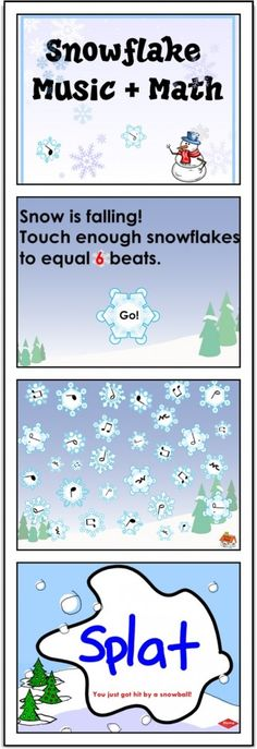 SMARTBoard Lesson: Snowflake Music Math - just a little more