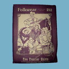 Vintage 80s Folkwear Frontier Shirts Uncut Pattern by TheSpectrum, $20.00