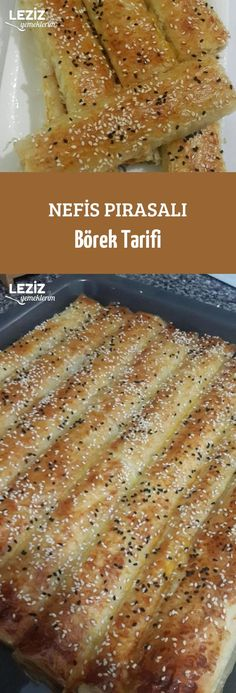 Nefis Pırasalı Börek Tarifi – Vegan yemek tarifleri – Las recetas más prácticas y fáciles Pastry Recipes, Pizza Recipes, Vegetarian Recipes, Vegetarian Breakfast, Pasta Bake, Turkish Recipes, Food And Drink, Yummy Food, Yummy Yummy