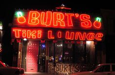 Cool little tiki themed dive bar off the main strip of downtown ABQ with a small stage for live music. Never a cover at Burt's!