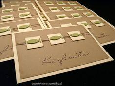 Einladung Konfirmation stampin stempelhexe Junge