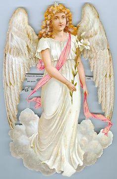 Victorian Angel Die Cut Paper Scraps Germany Vintage Easter, Vintage Christmas, Angel Flying, Angel Paintings, Victorian Angels, I Believe In Angels, Paper Scraps, Angels Among Us, Angel Pictures