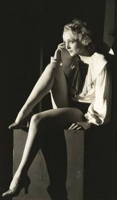 Vintage Carole Lombard showing off her beautiful legs and her sexy attitude. http://goo.gl/EJdpNM