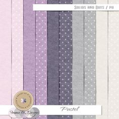 Pastel - Solids and Dots :: Papers :: Memory Scraps by France M. Designs