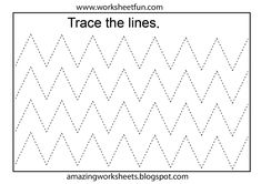 Pre K Tracing Worksheets Line Tracing Worksheets, Printable Preschool Worksheets, Shapes Worksheets, Letter Worksheets, Writing Worksheets, Worksheets For Kids, Writing Activities, Free Preschool, Preschool Activities