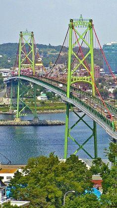 Oh.... look at the MINI Golden Gate Bridge of San Francisco, CA. (USA)  ... Angus L MacDonald Bridge, Halifax, NS, Canada...