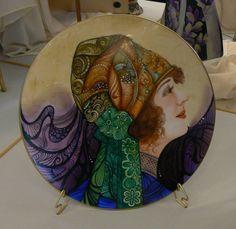 Placa  de Porcelana Dama