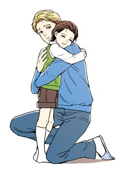 Steve and a young Loki! I'm putting it in this folder because, hey, close enough to kid!Loki. I honestly wish they left room for Kid!Loki and Comic!Steve to become awesome friends...