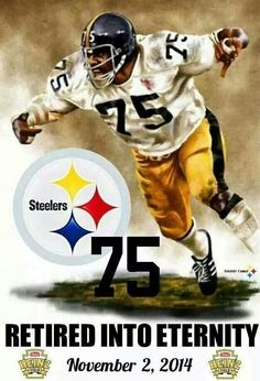 When I saw this I thought that Joe Greene had really died & gone into the real eternity Steelers Helmet, Pitsburgh Steelers, Here We Go Steelers, Steelers Stuff, Pittsburgh Steelers Pictures, Pittsburgh Steelers Football, Pittsburgh Sports, Pittsburgh City, Football Team