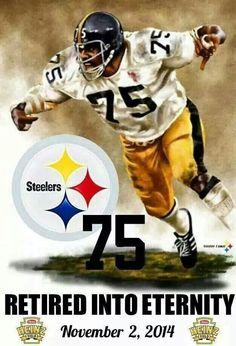 HOF LB. Mean Joe Greene. Pittsburgh Steelers. Pitsburgh Steelers, Steelers Helmet, Here We Go Steelers, Steelers Stuff, Pittsburgh Steelers Pictures, Pittsburgh Steelers Football, Pittsburgh Sports, Dallas Cowboys, Football Team