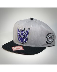 Decepticon Snapback Hat - On the bottom it has a image of Megatron from the comics (or box art)