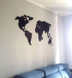 Home Decor Wooden World Map Wall Decor Housewarming by Woodplay24