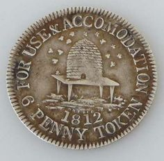 Trade token England 1812. I love the coin I wonder if you could buy  sc 1 st  Pinterest & embossed honey bee dishes - Google Search | dishes u0026 pottery ...