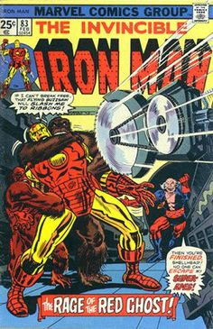 Invincible Iron Man - Issue 83 - February Issue - Rage Of The Red Ghost - Red Ghost Iron Man Comic Books, Marvel Comic Books, Comic Books Art, Comic Art, Book Art, Tony Stark, Red Ghost, Classic Comics, Man Vs