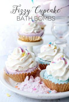 Fizzy Cupcake Bath Bombs | 12 DIY Bath Bombs | Bath Bombs Made Easy, see more at: http://diyready.com/diy-bath-bombs-bath-bombs-made-easy/