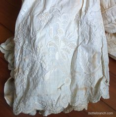 1800s+embroidery | white work embroidery petticoat 1800s