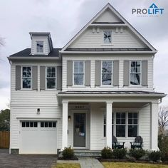 ProLift Doors has what it takes to provide fast, reliable garage door services throughout St. Faux Wood Garage Door, White Garage Doors, Carriage House Garage Doors, Garage Door Styles, Garage Door Design, Traditional Style Homes, Curb Appeal, Midcentury Modern, House Design