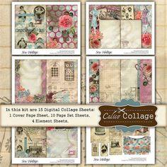 free junk journal vintage printables by Nadia van Aswegen Vintage Labels, Vintage Ephemera, Junk Journal, Art Journal Techniques, Decoupage Vintage, Sewing Art, Arte Popular, Printable Paper, Printable Tags