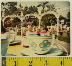 Vintage Disneyland Rides | Vintage 80s Photo Tea Cup Ride at Disneyland | eBay | tea
