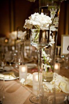 Elegant Ivory White Centerpiece Centerpieces Wedding Flowers Photos & Pictures - WeddingWire.com