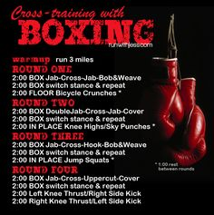 Great Run + Boxing Workout! Box in the morning run in the evening!
