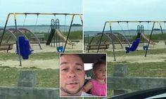 The family believed they saw a ghost on a playground in Warwick, Rhode Island when they went there. One of the swings can be seen moving in the air for no apparent reason.