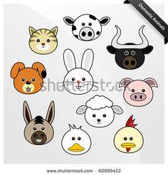 Más caras redondeadas para moldes!! Domestic Animal Cute Cartoon