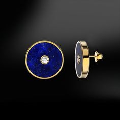 DIAMOND & LAPIS LAZULI EarringsThese earrings are handmade like all our products, with accuracy by our goldsmiths with over 40 years experience. Diamond Studs, Diamond Jewelry, Crystal Jewelry, Diamond Earrings, Mister Jewelry, Art Deco Jewelry, Jewelry Design, Lapis Lazuli Earrings, Egyptian Jewelry