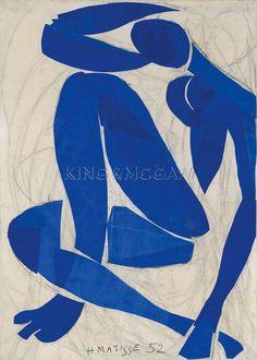 Nu Bleu IV Art Print by Henri Matisse at King & McGaw
