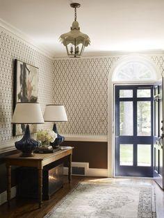 painted door, lamps @LindseyCoralHarperInterior Design
