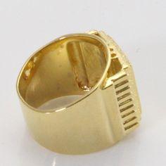 18K yellow gold plated Islam Muslim Allah  ring for men & women, charm Arabic fashion jewelry gift