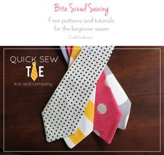 Free pattern! How to make a tie via Craft Snob
