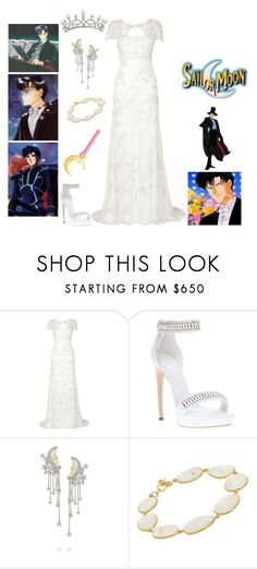 """""""Princess Serenity and Prince Endymion"""" by odyssey82 ❤ liked on Polyvore featuring Phase Eight, Alexander McQueen, Lydia Courteille, Pippa Small and Fontenay"""