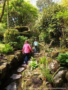 Stepping stones of exploration at the Japanese Garden, Irish National Stud, Kildare