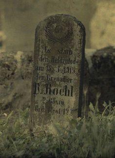 WWI, German tombstones