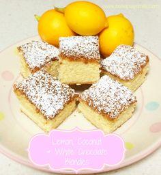 Lemon, Coconut & White Chocolate Blondies