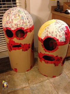 Homemade Kids Couple Costume – The Making of the Minions!...