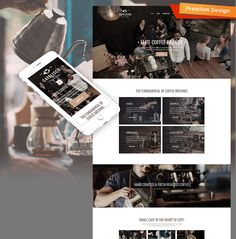 Cafelisco - Premium Moto CMS 3 Template