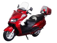 """SCO039-F 150cc Scooter Automatic Transmission, Front Disc/Rear Drum Brake, 12"""" Wheels, Windshield, Rear Trunk, Fully Assembled $1099.00"""