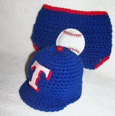 Texas Rangers hat and diaper cover with by conniemariepfost, $40.00