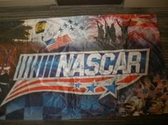 Nascar Auctions - American Salute the Troops flag autographed by Coca ...