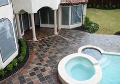 Rustic outdoor flooring with antique Manganese saltillo tile . Spanish Flooring, Spanish Tile, Backyard Projects, Backyard Patio, Backyard Ideas, Outdoor Tiles, Outdoor Flooring, Rustic Outdoor, Outdoor Decor