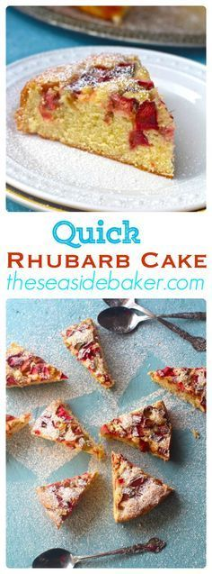 Award winning rhubarb cake that is easy to make and delicious!