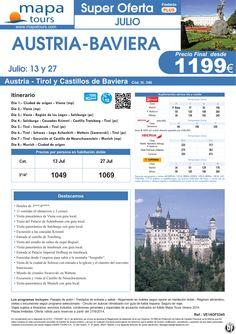 OF Austria y Baviera salidas Julio**Precio final 1199** ultimo minuto - http://zocotours.com/of-austria-y-baviera-salidas-julioprecio-final-1199-ultimo-minuto-4/